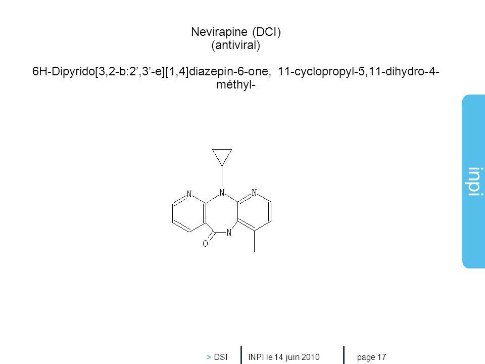 Nevirapine (DCI) (antiviral) 6H-Dipyrido[3,2-b:2',3'-e][1,4]diazepin-6-one, 11-cyclopropyl-5,11-dihydro-4-méthyl-